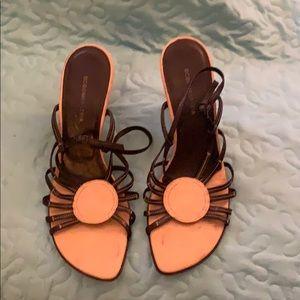 Brown & tan BCBG wedge sandals